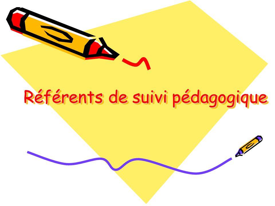Référents de suivi pédagogique