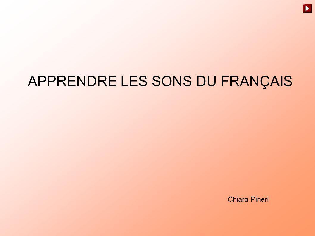 APPRENDRE LES SONS DU FRANÇAIS