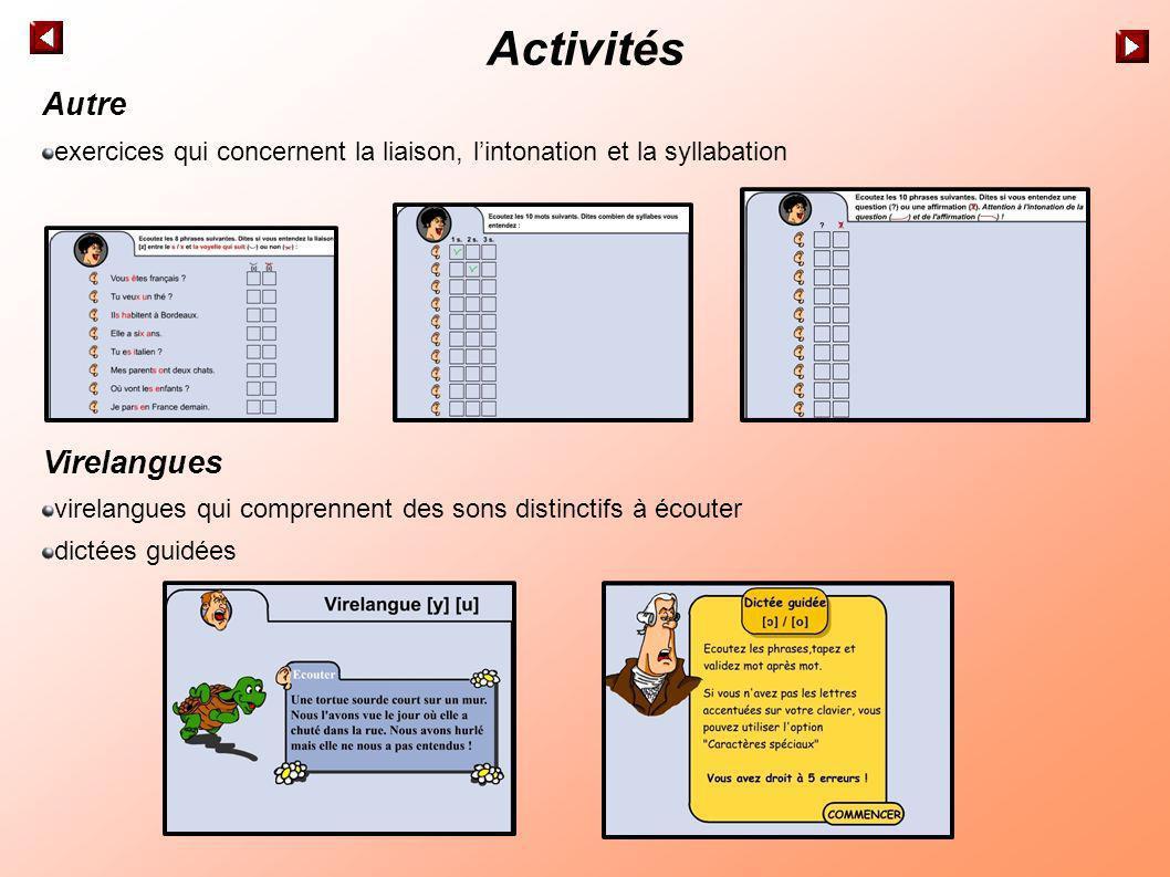 Activités Autre Virelangues