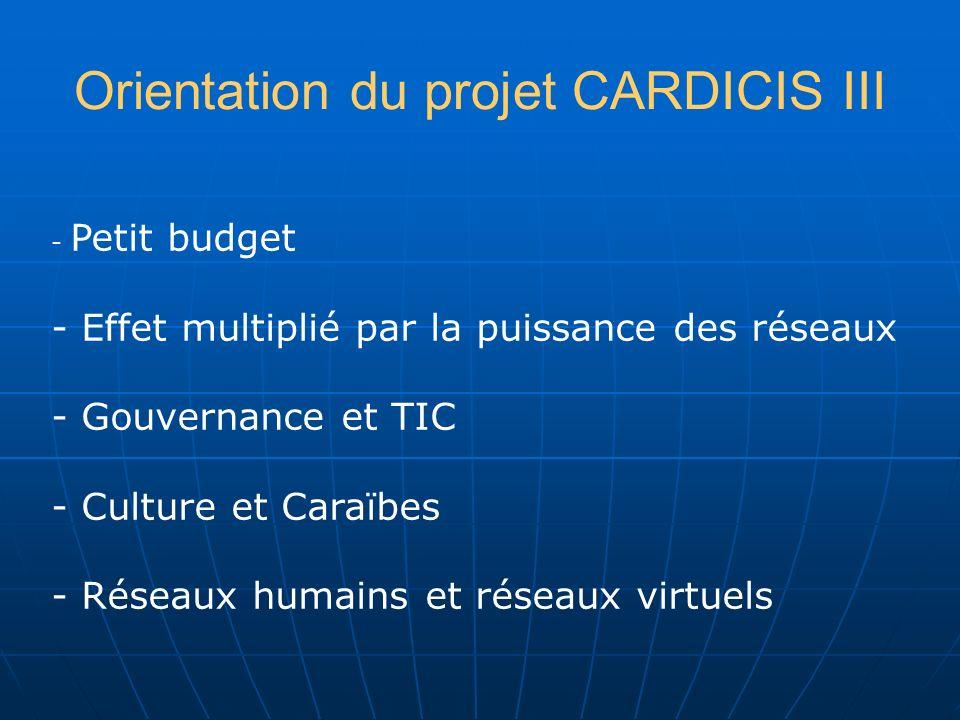 Orientation du projet CARDICIS III