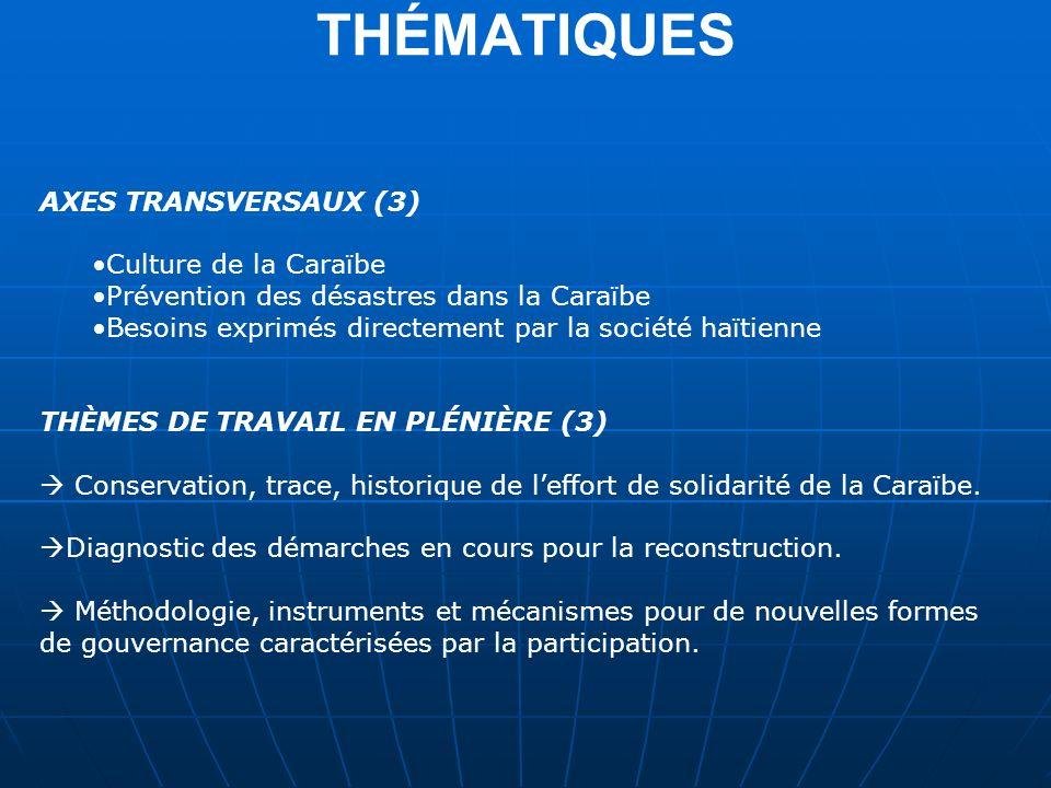 THÉMATIQUES AXES TRANSVERSAUX (3) Culture de la Caraïbe