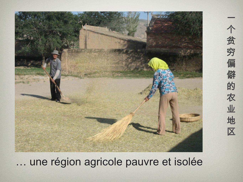 … une région agricole pauvre et isolée