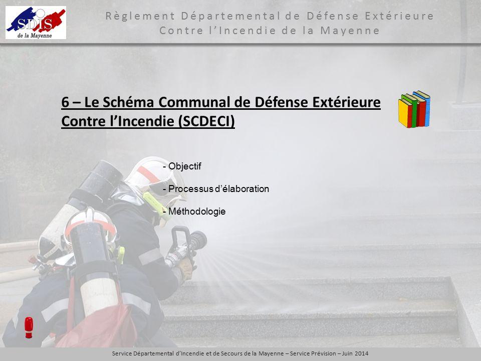 6 – Le Schéma Communal de Défense Extérieure Contre l'Incendie (SCDECI)