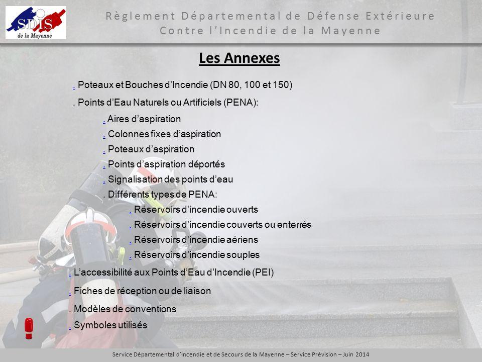 Les Annexes . Poteaux et Bouches d'Incendie (DN 80, 100 et 150)