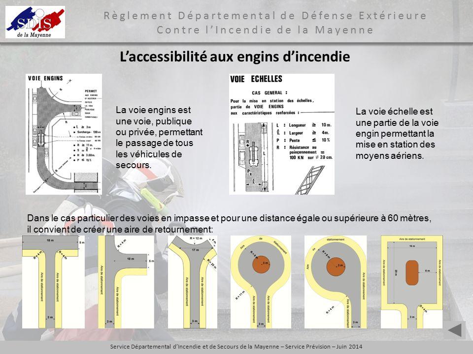 L'accessibilité aux engins d'incendie
