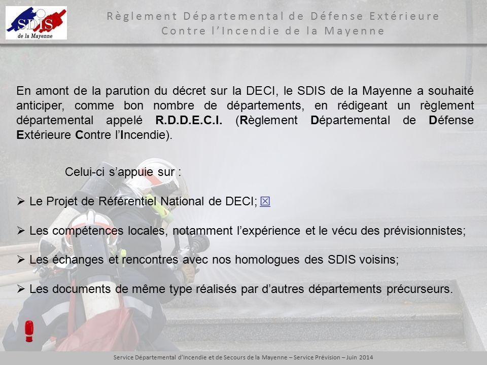  Le Projet de Référentiel National de DECI; 