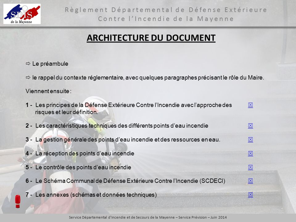 ARCHITECTURE DU DOCUMENT