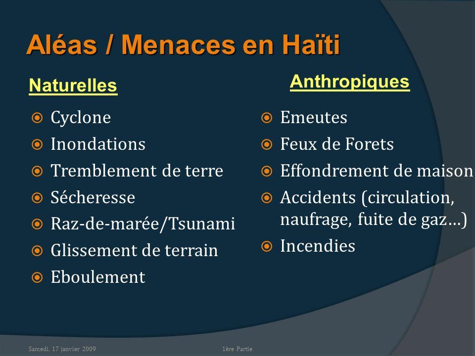 Aléas / Menaces en Haïti