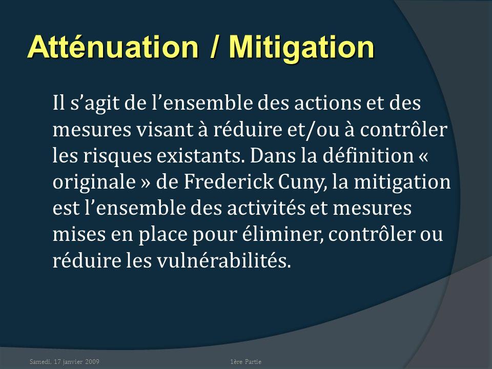 Atténuation / Mitigation