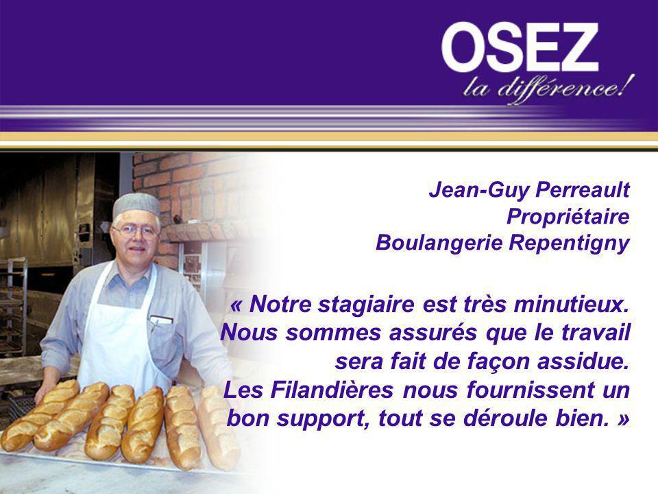 Jean-Guy Perreault Propriétaire. Boulangerie Repentigny.