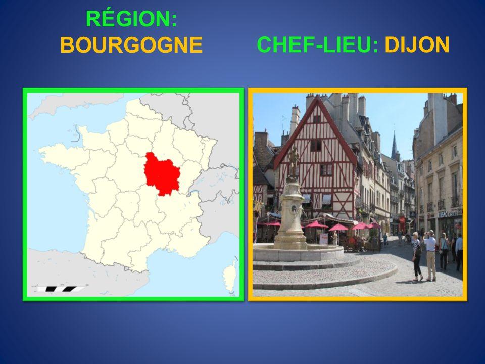 RÉGION: BOURGOGNE CHEF-LIEU: DIJON