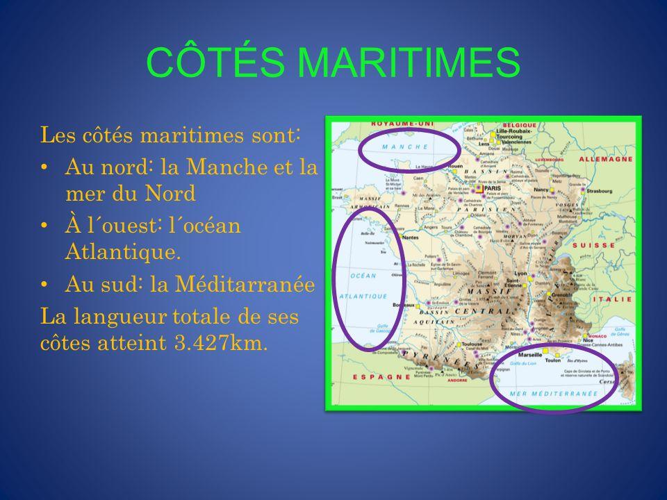 CÔTÉS MARITIMES Les côtés maritimes sont: