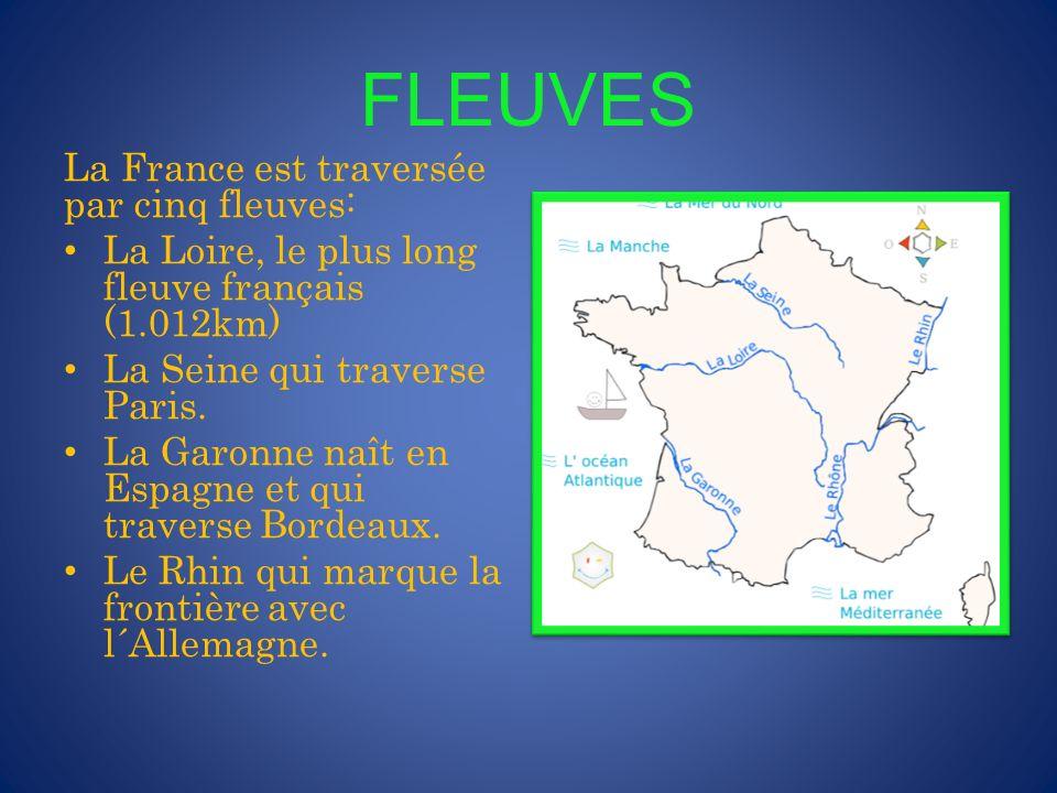 FLEUVES La France est traversée par cinq fleuves: