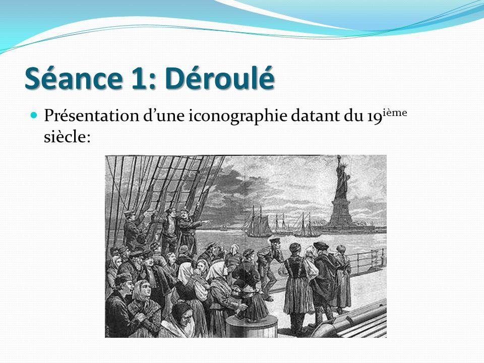 Séance 1: Déroulé Présentation d'une iconographie datant du 19ième siècle: