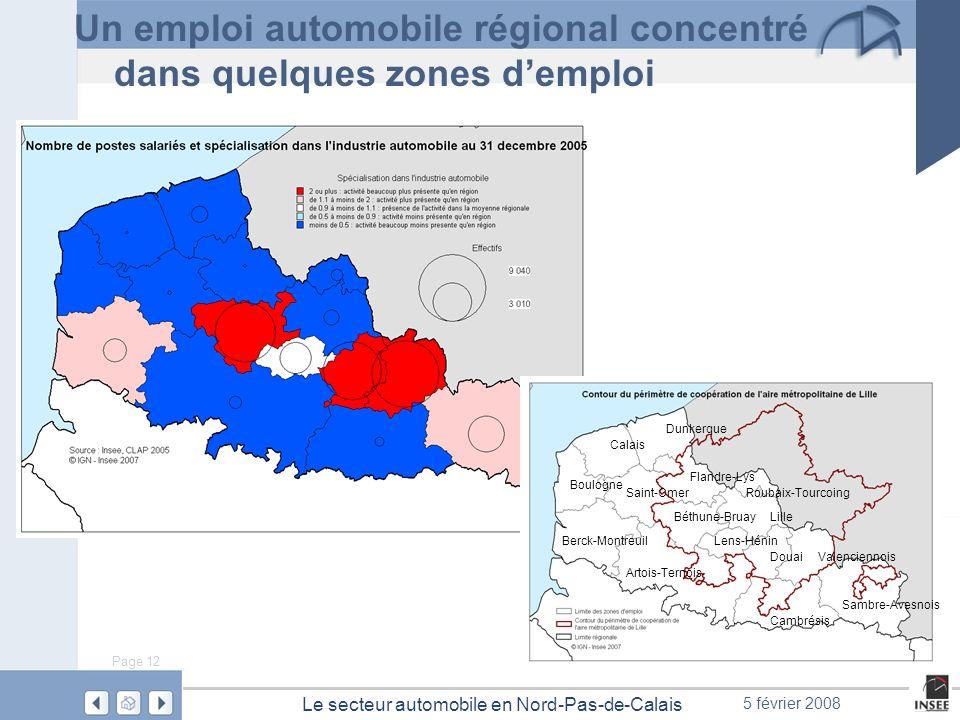 Un emploi automobile régional concentré dans quelques zones d'emploi
