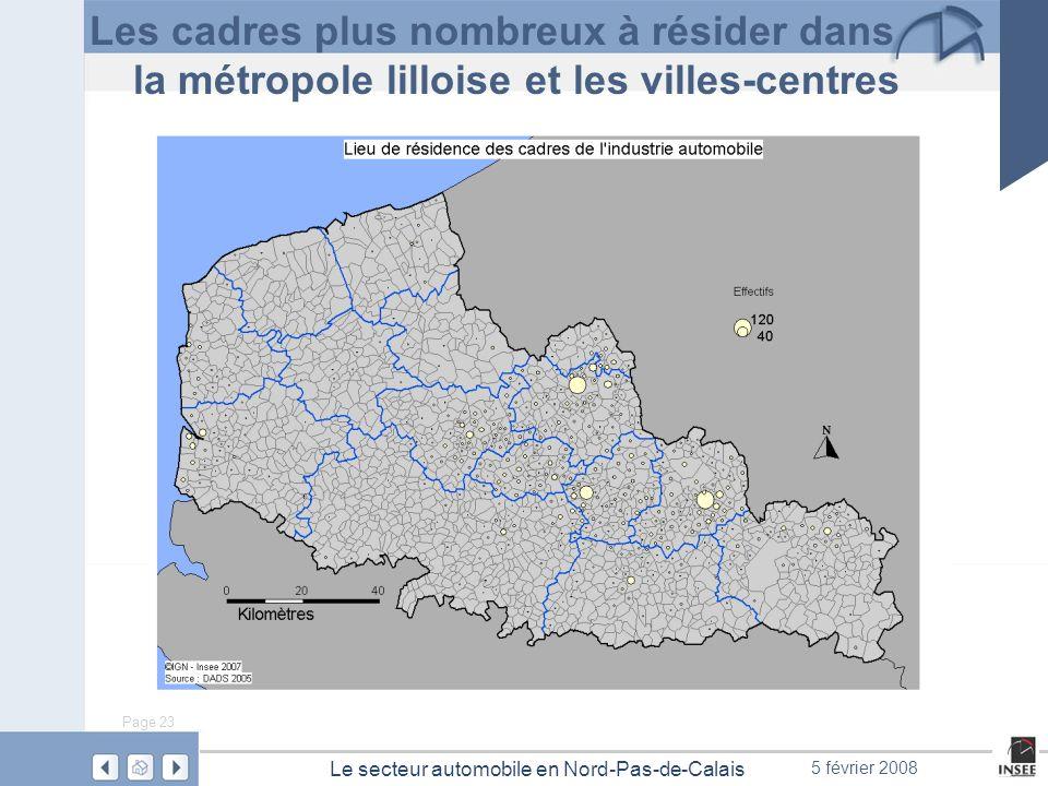 Les cadres plus nombreux à résider dans la métropole lilloise et les villes-centres