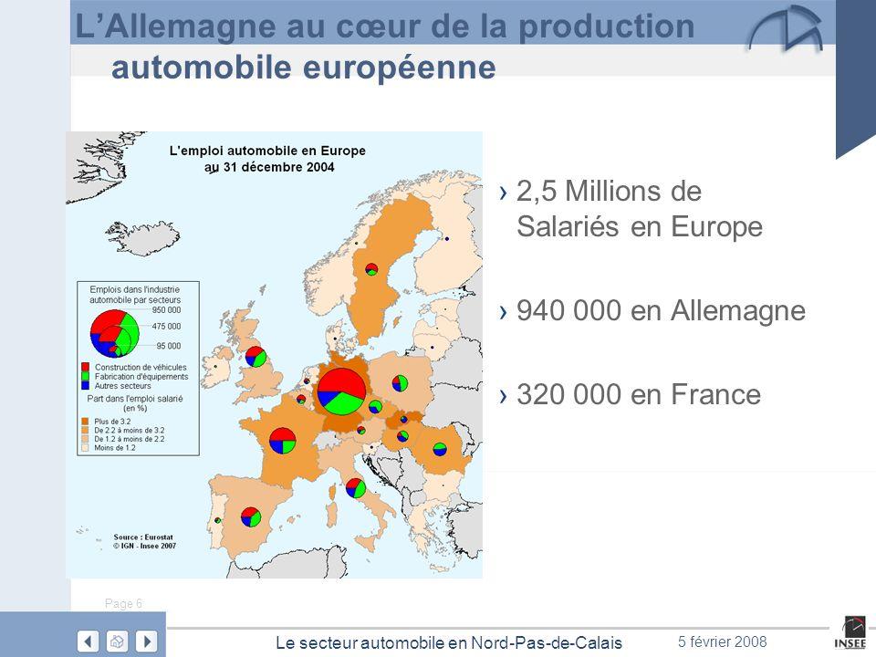 L'Allemagne au cœur de la production automobile européenne