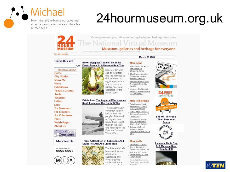 24hourmuseum.org.uk Première plate-forme européenne d 'accès aux ressources culturelles numérisées