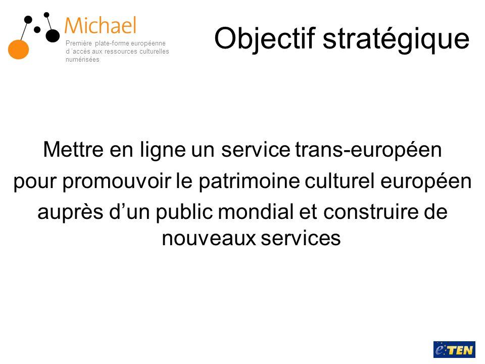 Objectif stratégique Mettre en ligne un service trans-européen