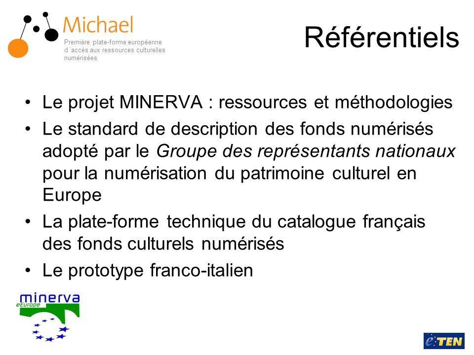 Référentiels Le projet MINERVA : ressources et méthodologies