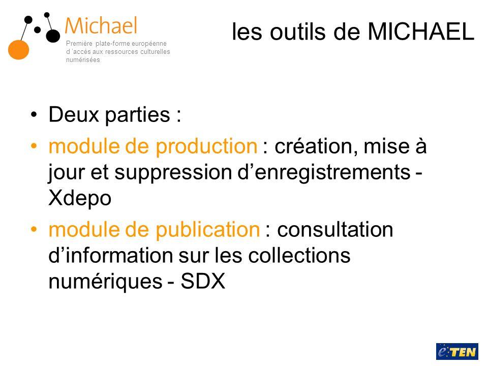 les outils de MICHAEL Deux parties :