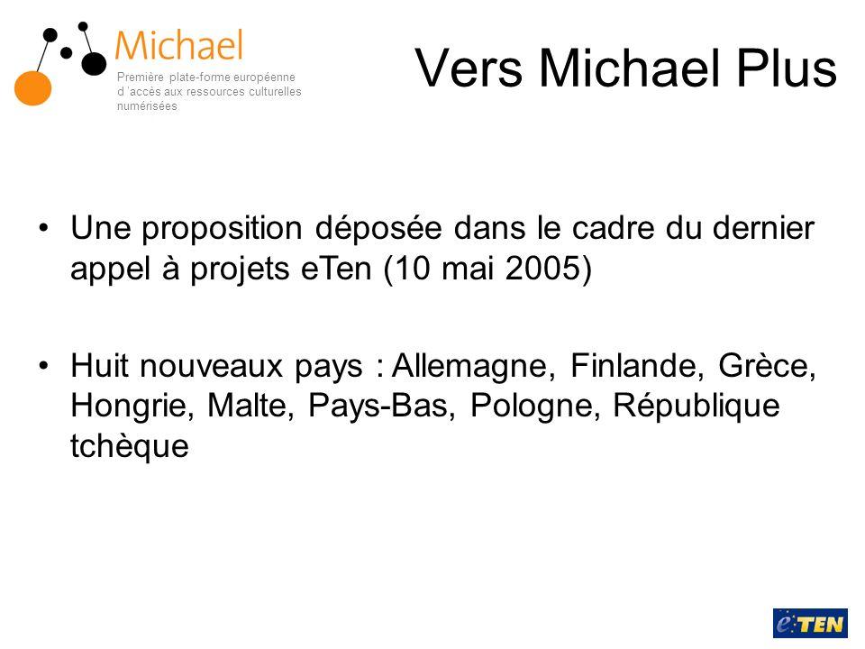 Vers Michael Plus Première plate-forme européenne d 'accès aux ressources culturelles numérisées.