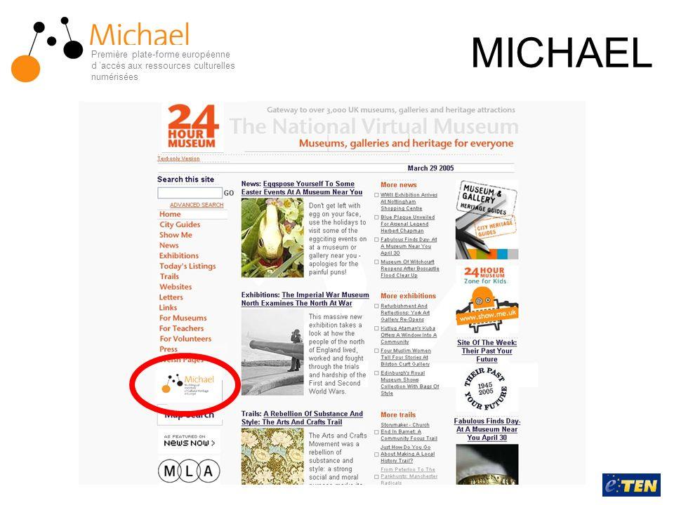 MICHAEL Première plate-forme européenne d 'accès aux ressources culturelles numérisées