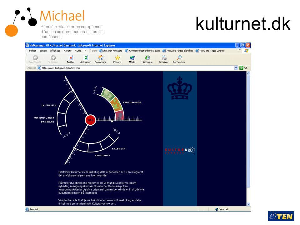 kulturnet.dk Première plate-forme européenne d 'accès aux ressources culturelles numérisées