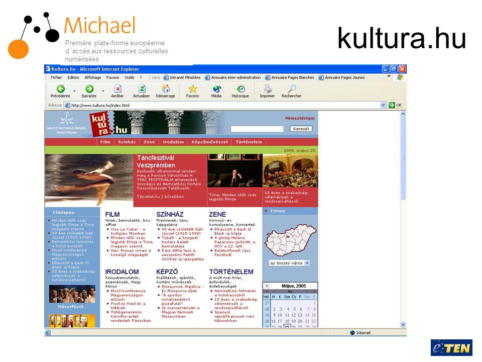 kultura.hu Première plate-forme européenne d 'accès aux ressources culturelles numérisées