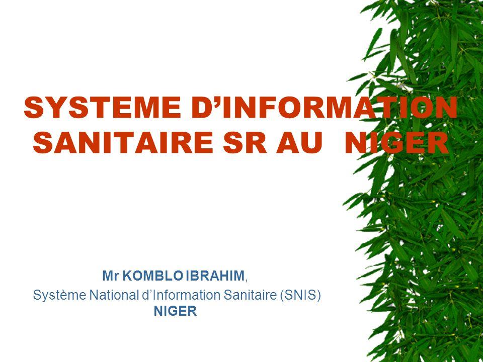 SYSTEME D'INFORMATION SANITAIRE SR AU NIGER