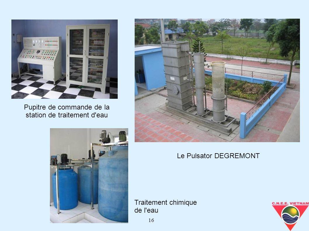 Pupitre de commande de la station de traitement d eau