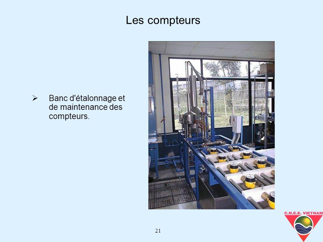 Les compteurs Banc d étalonnage et de maintenance des compteurs.