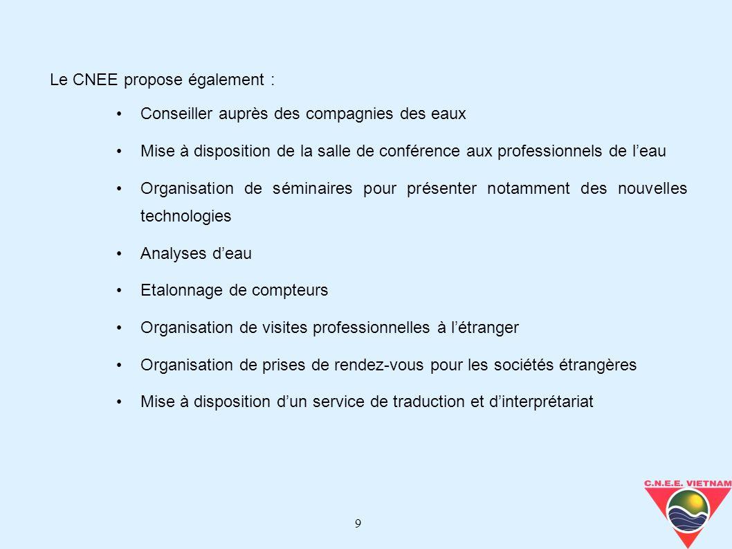 Le CNEE propose également :
