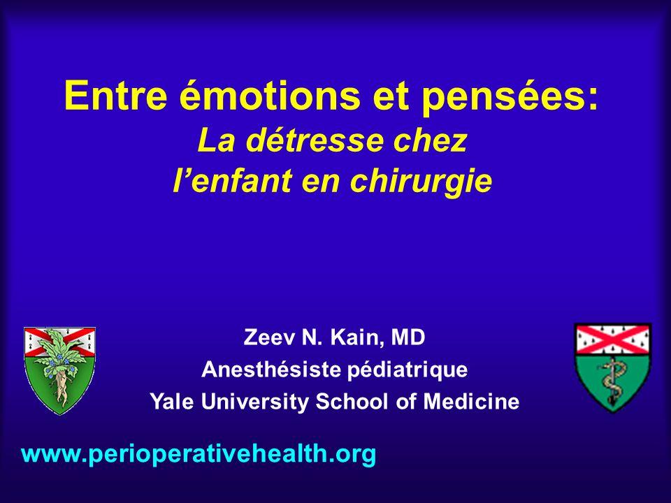 Entre émotions et pensées: La détresse chez l'enfant en chirurgie