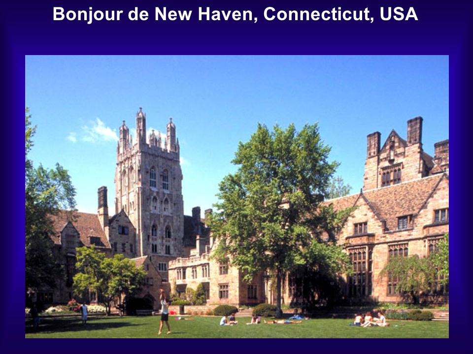 Bonjour de New Haven, Connecticut, USA