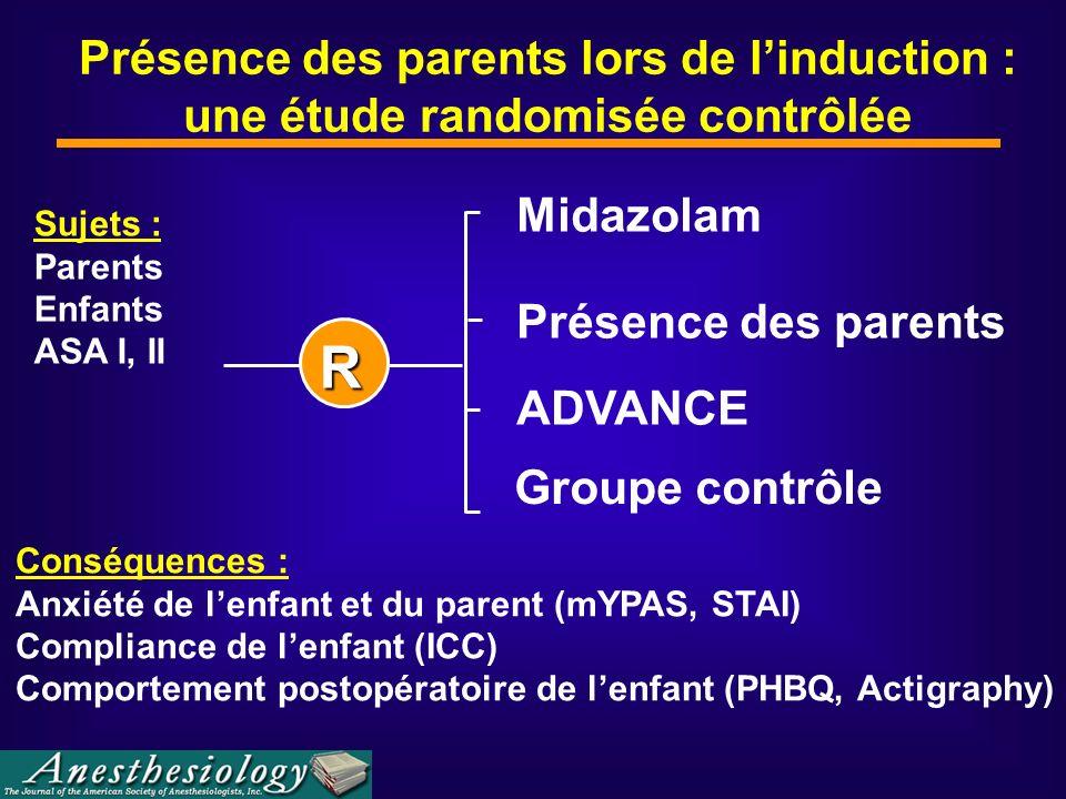 Présence des parents lors de l'induction : une étude randomisée contrôlée