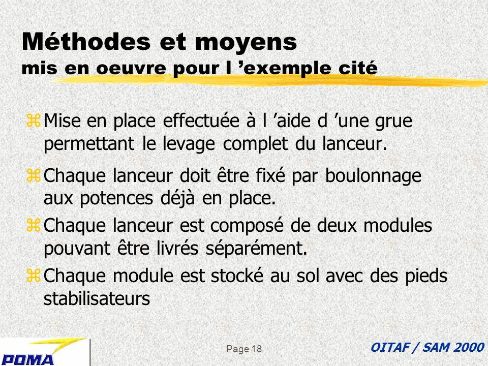 Méthodes et moyens mis en oeuvre pour l 'exemple cité