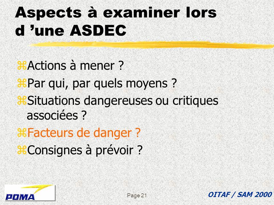 Aspects à examiner lors d 'une ASDEC