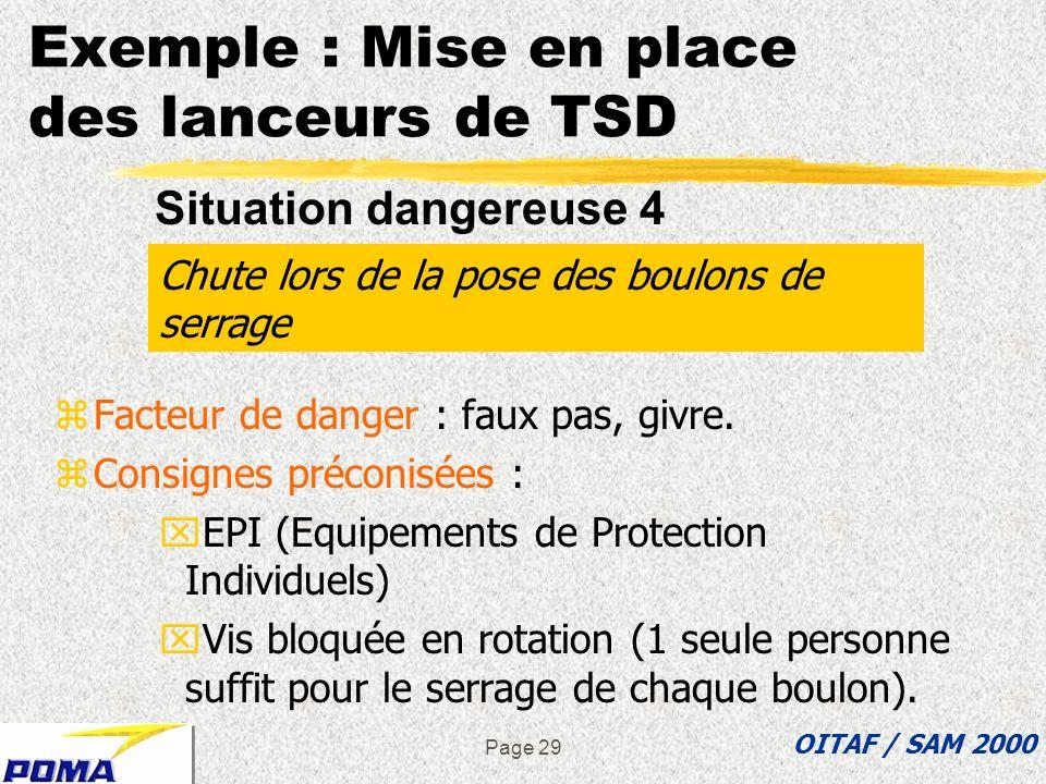 Exemple : Mise en place des lanceurs de TSD