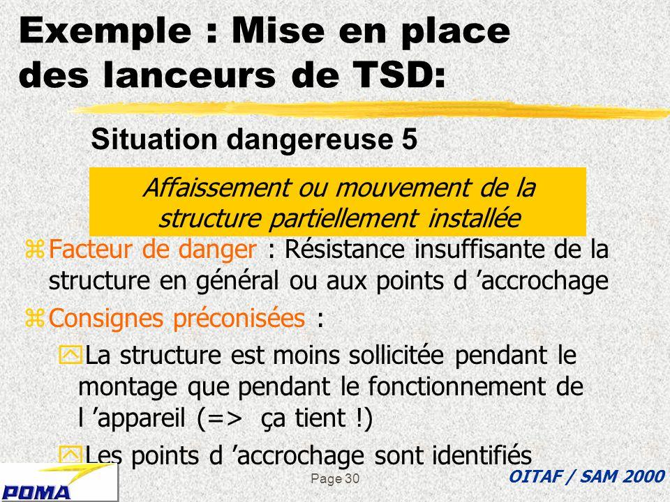 Exemple : Mise en place des lanceurs de TSD: