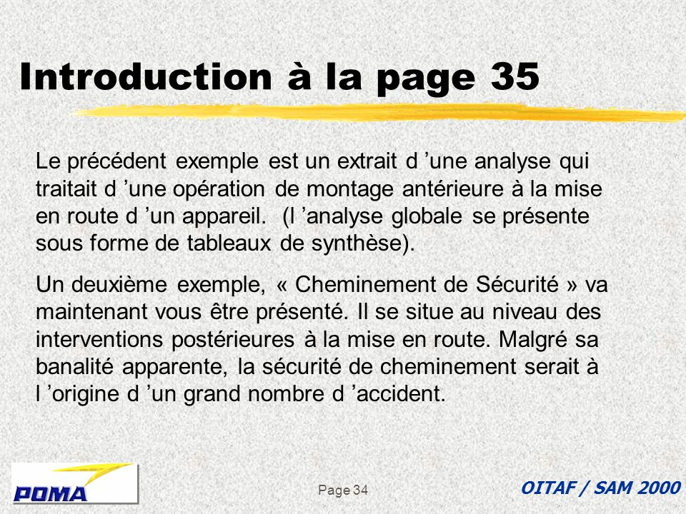 Introduction à la page 35