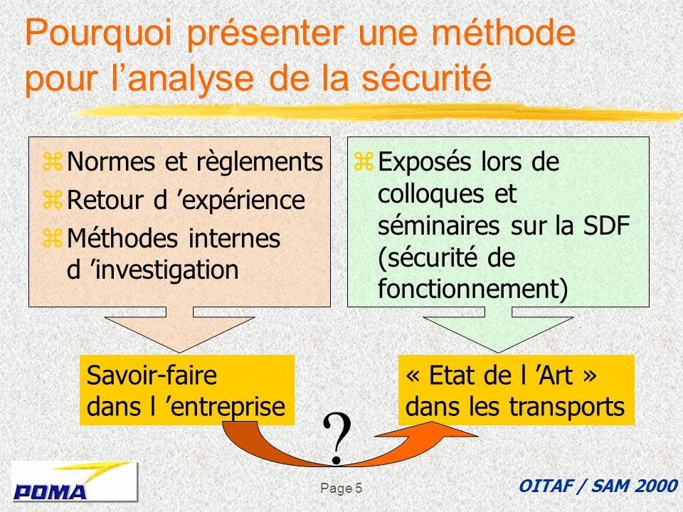 Pourquoi présenter une méthode pour l'analyse de la sécurité