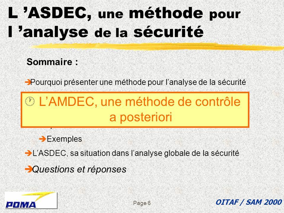 L 'ASDEC, une méthode pour l 'analyse de la sécurité