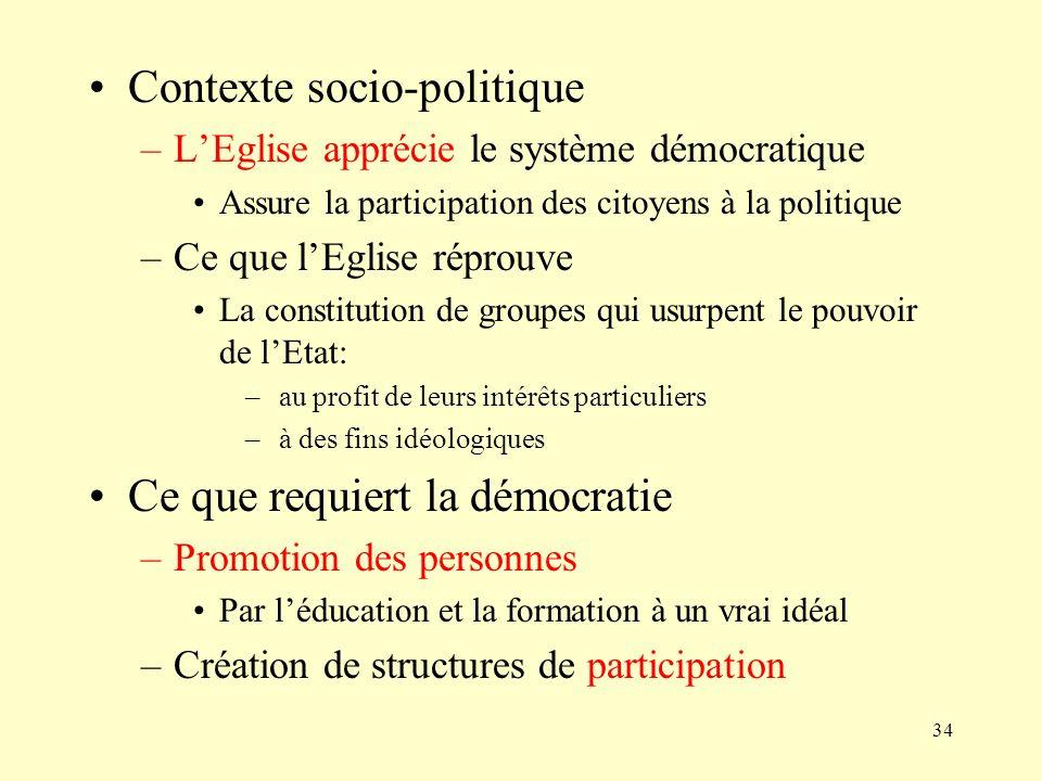 Contexte socio-politique