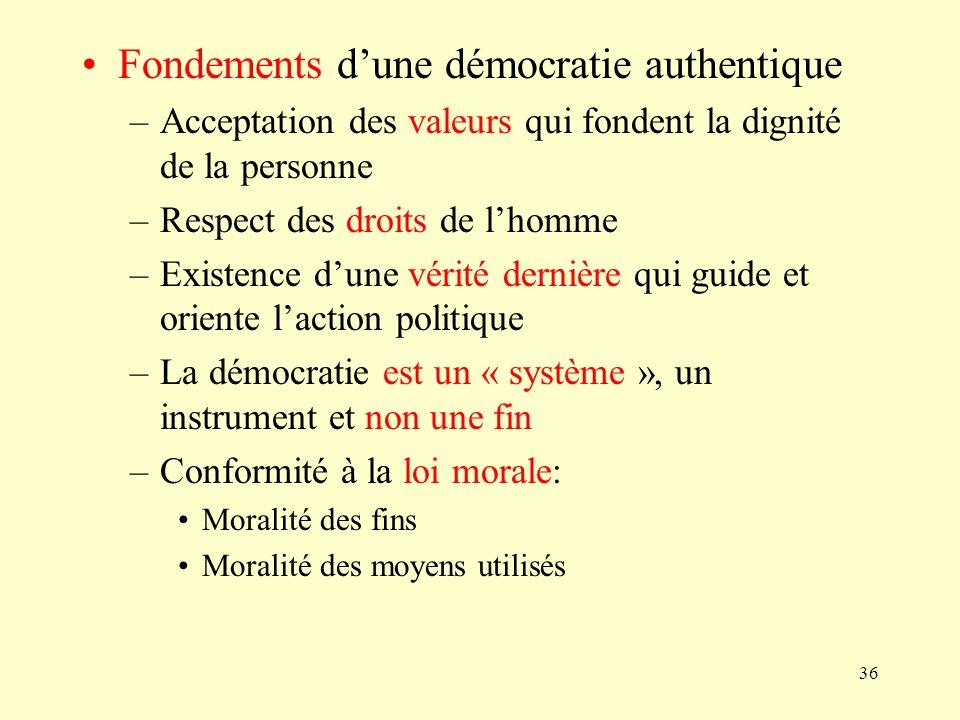 Fondements d'une démocratie authentique