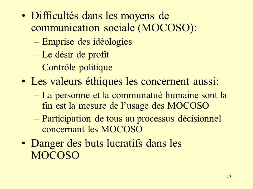 Difficultés dans les moyens de communication sociale (MOCOSO):