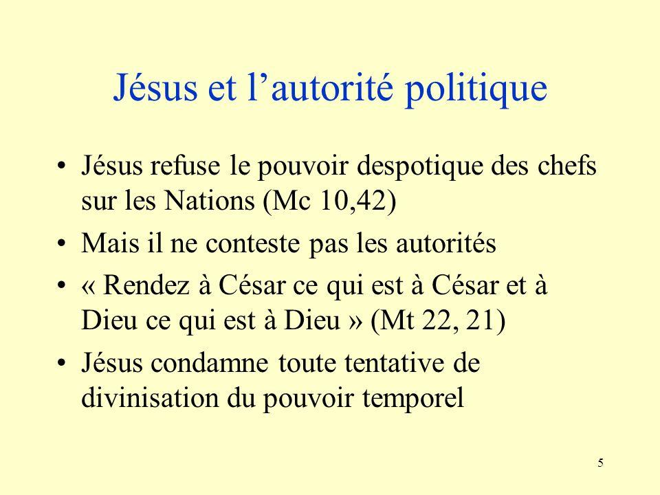 Jésus et l'autorité politique