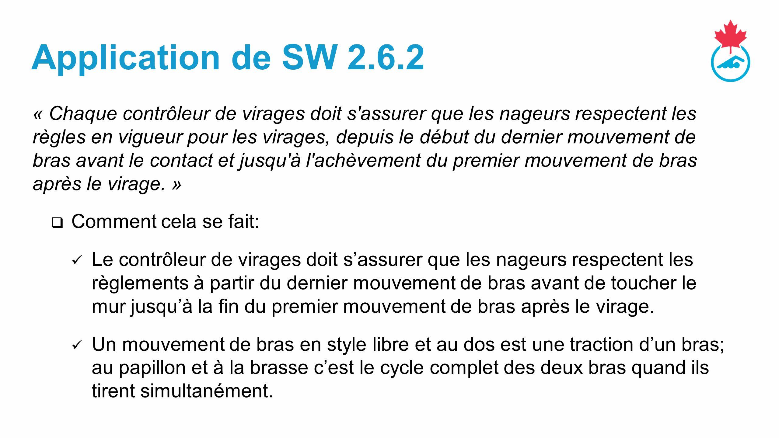 Application de SW 2.6.2