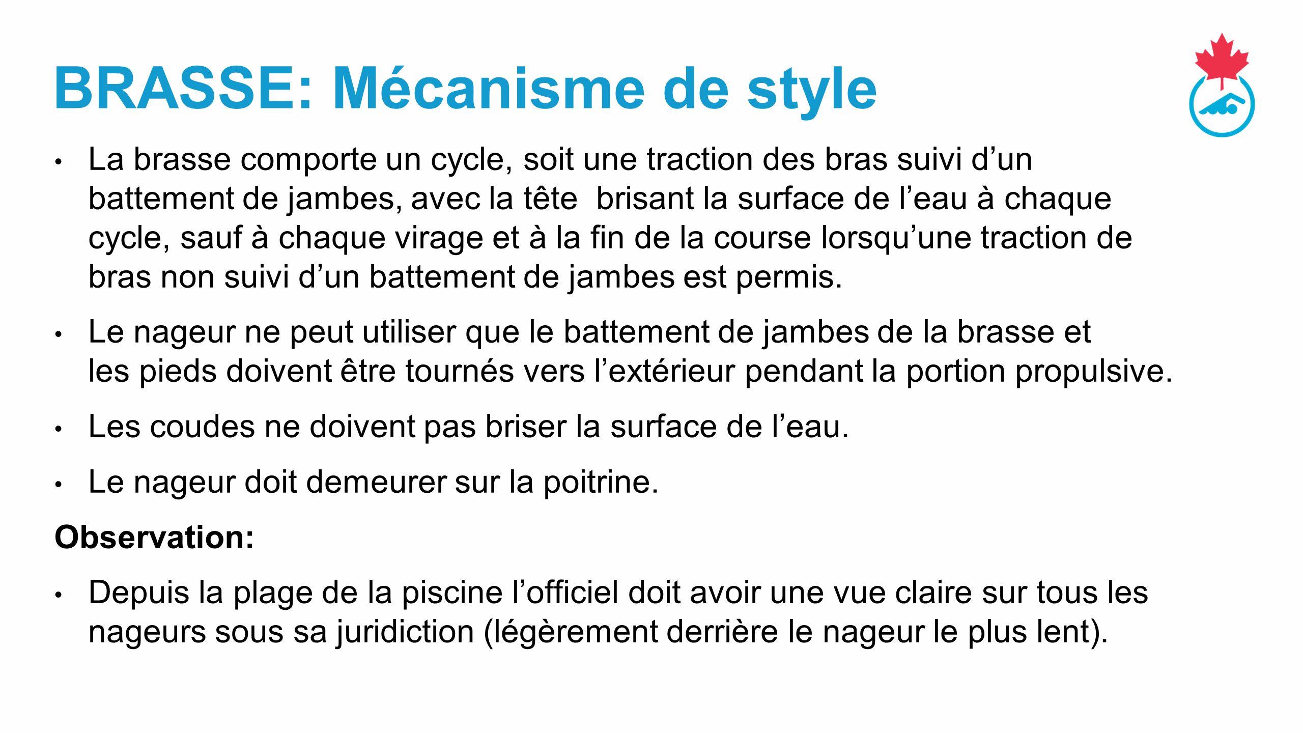 Brasse: Mécanisme de style