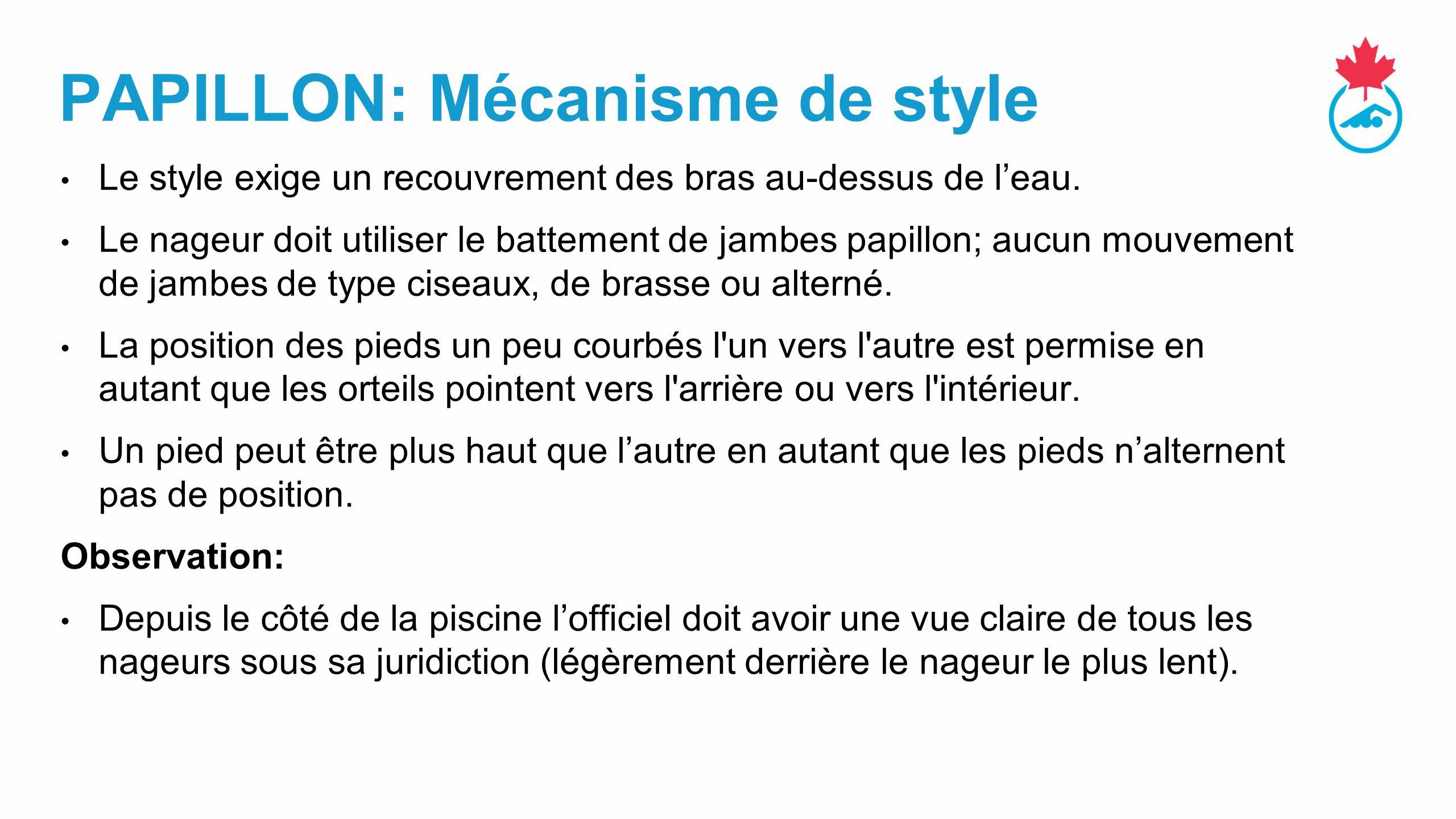 PAPILLON: Mécanisme de style